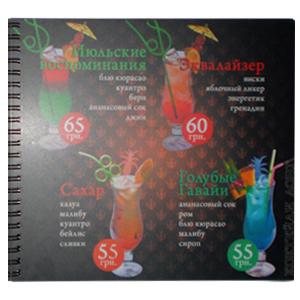 Пластиковое меню Бар